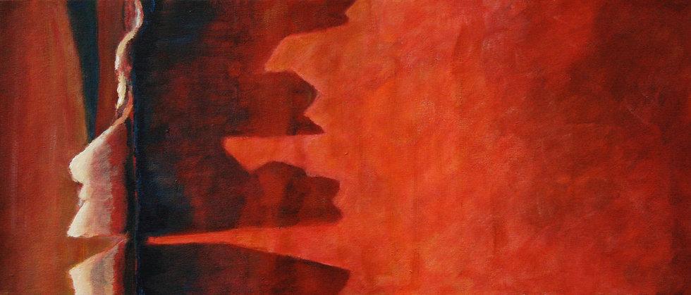 Strelitzia bark in the evening sun