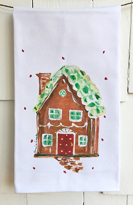 Gingerbread House #90581 Cotton Huck Kitchen Towel