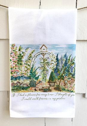 Walk in the Garden #16 Cotton Huck Kitchen Towel