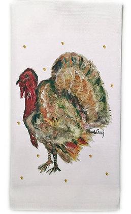 Thanksgiving #60762  Cotton Huck Kitchen Towel