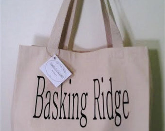 Town Name Tote Bags -Size Large