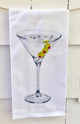 Martini -Cotton Huck KitchenTowel
