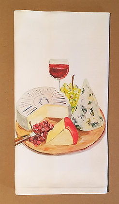 #8023 Cheese Plate -Kitchen Towel