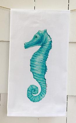 #3033 Seahorse - Cotton Huck Kitchen Towel