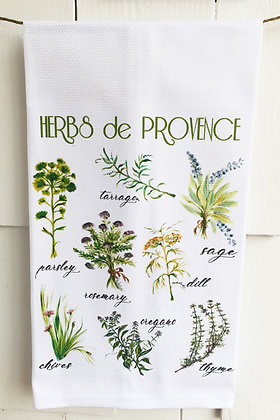 Herbs de Provence 45 Cotton Huck Kitchen Towel