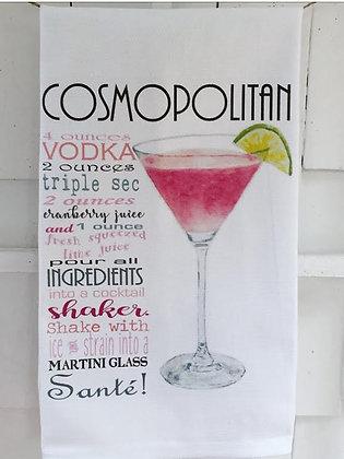 Cosmopolitan Recipe -Kitchen Towel