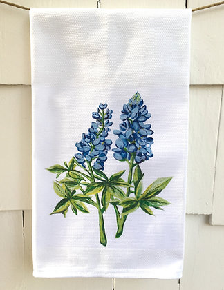 Blue Bonnets #5089 Cotton Huck Kitchen Towel