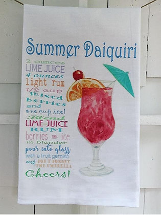 Summer Daiquiri Recipe -Kitchen Towel