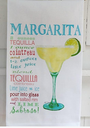 Margarita Recipe -Kitchen Towel
