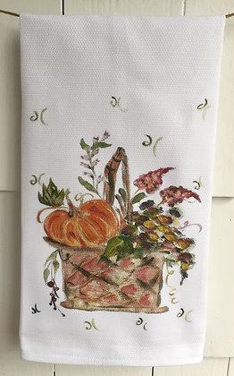 Fall Basket #60741-Cotton Huck KitchenTowel