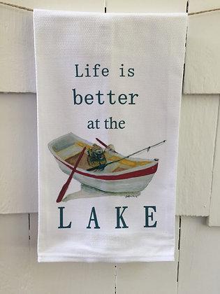 Lake Life -Cotton Huck KitchenTowel