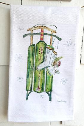 Winter  #5095 Cotton Huck Kitchen Towel