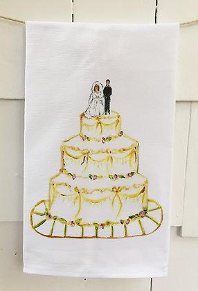 Wedding Day - Cotton Huck Kitchen Towel