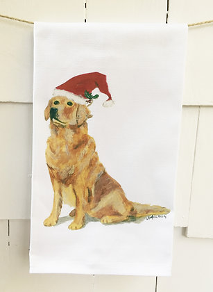 #8025 Christmas Doggy -Kitchen Towel