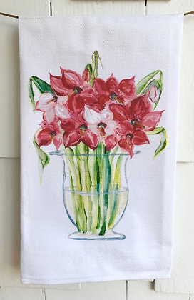 Amaryllis  #2046 Cotton Huck Kitchen Towel