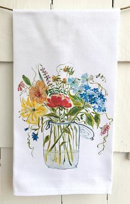 English Garden 3019-Cotton Huck Kitchen Towel