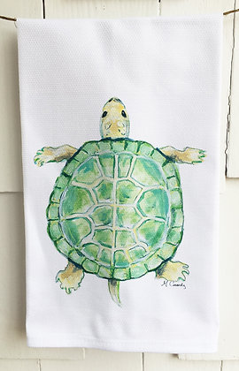 Sea Turtle 4019 Cotton Huck Kitchen Towel
