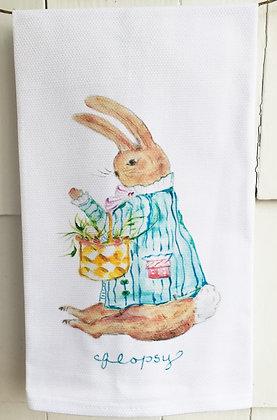 Flopsy 0124 Cotton Huck Kitchen Towel