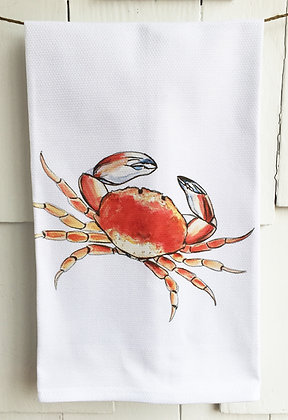 Red Crab 90205 Cotton Huck Kitchen Towel