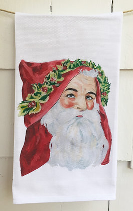 #8066 Vintage Santa -Kitchen Towel