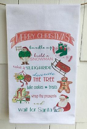 Christmas Time #28 -Cotton Huck KitchenTowel