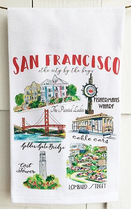 San Francisco Cotton Huck Kitchen Towel