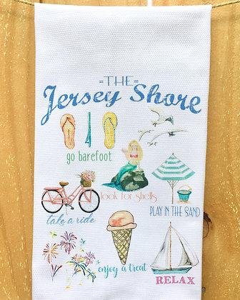 Jersey Shore Icons #0143 Cotton Huck Kitchen Towel
