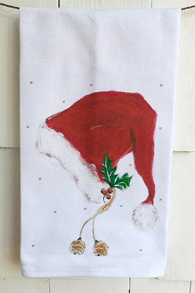 Santa #60671 Cotton Huck Kitchen Towel