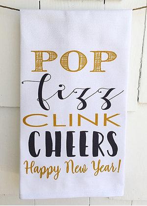 Cheers!  #8087- Cotton Huck Kitchen Towel