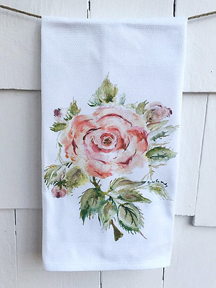 Rosa Rugosa 90382 -Cotton Huck KitchenTowel
