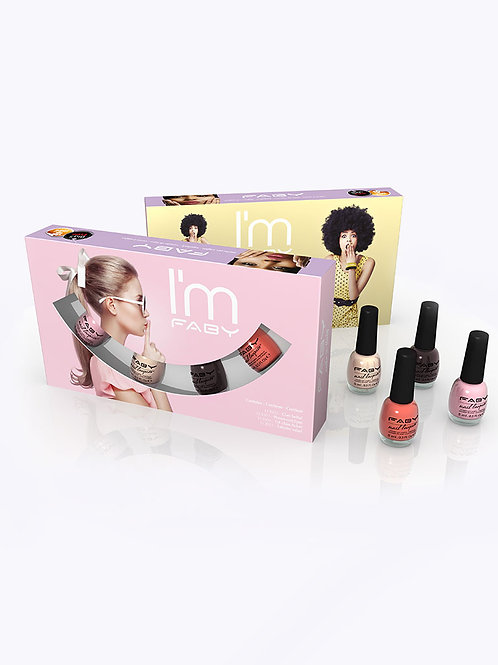 Nagellak mini pack 4 stuks - I'm Faby Collection