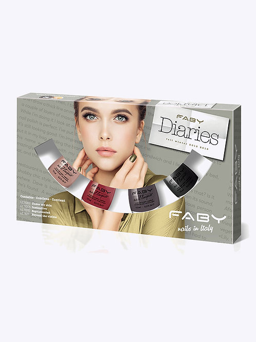 Nagellak mini pack 4 stuks - FABY Diaries Collection