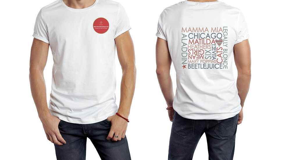 Youth White T-Shirt with Shows