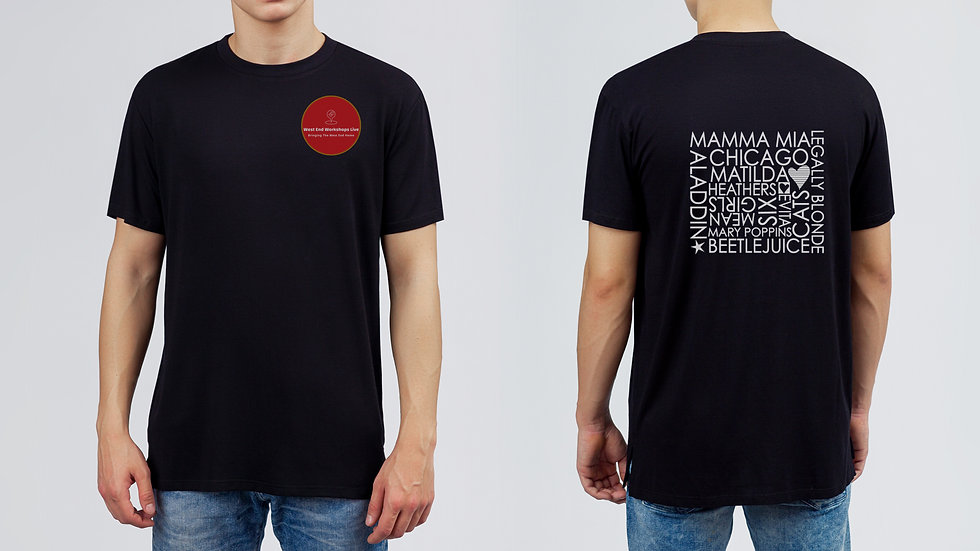Youth Black T-shirt with Shows