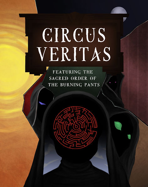 Kinetic Arts Productions presents Circus Veritas Featuring the sacred order of the burning pants, circus arts in Oakland, at Kinetic Arts Center, running Nov 4 thru Dec 17