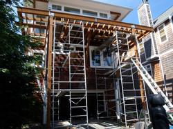 Scafolding to Build Deck