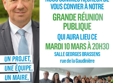 Grande Réunion Publique Mardi à La MONTAGNE !