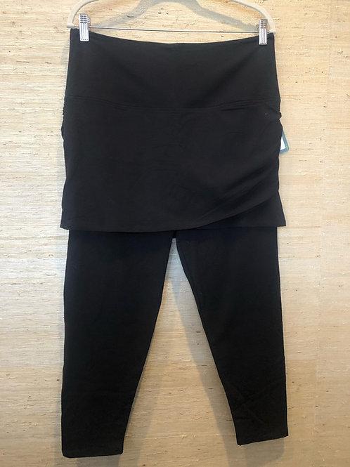 Lysse Black Leggings With Skirt