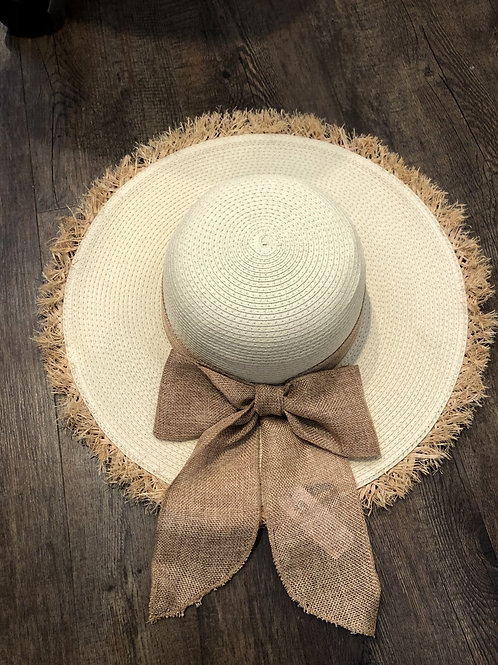 Charlie Paige Straw Bow Hat