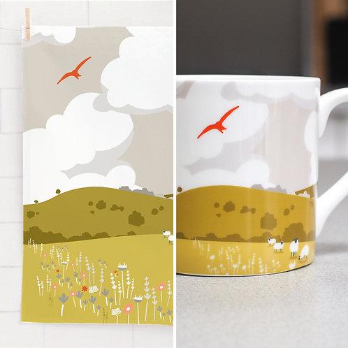 Rolling Hills Mug & Tea Towel Set