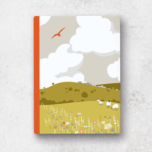 Rolling Hills A5 Notebook - Lined Pages
