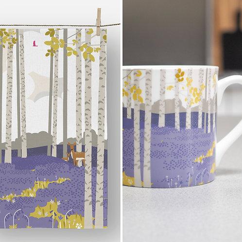 Bluebell Haze Mug & Tea Towel Set