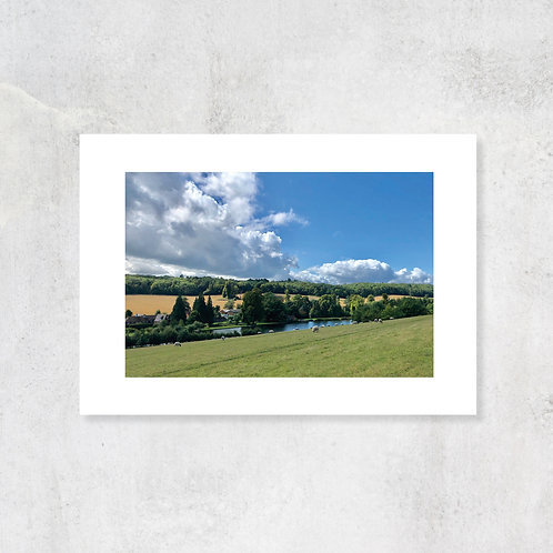 Chess Valley A4 Art Print with Card Mount