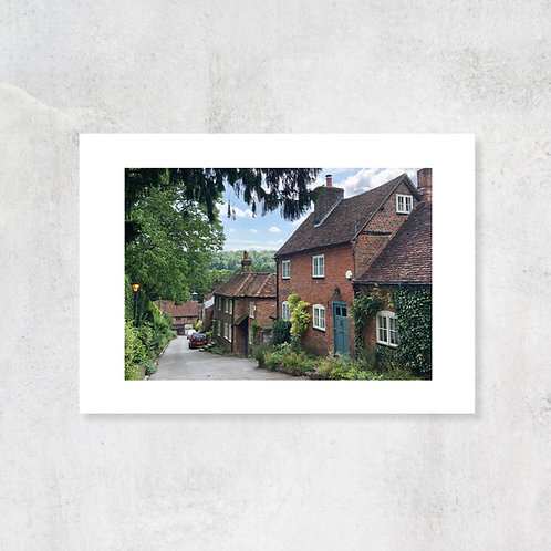 Chilterns West Wycombe Village A4 Art Print with Card Mount
