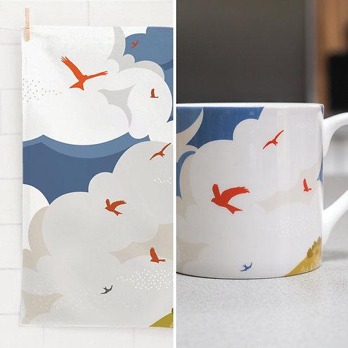Soaring Kites Mug & Tea Towel Set