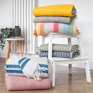 Pure Wool Herringbone Blankets