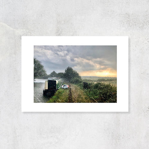 Marsworth on the Grand Union Canal A4 Art Print with Card Mount