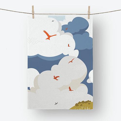 Soaring Kites 100% Cotton Tea Towel
