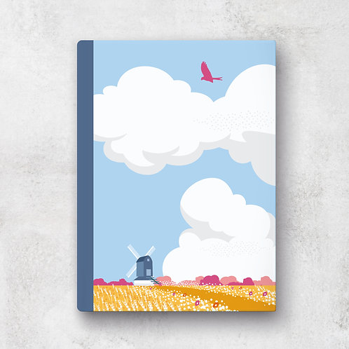 Big Skies & Windmills A5 Notebook - Lined Pages