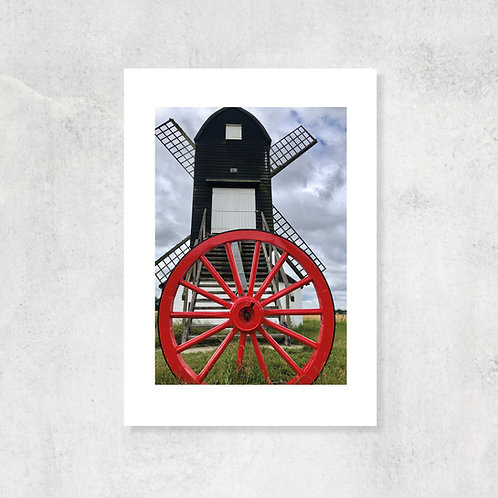 Pitstone Windmill A4 Art Print with Card Mount